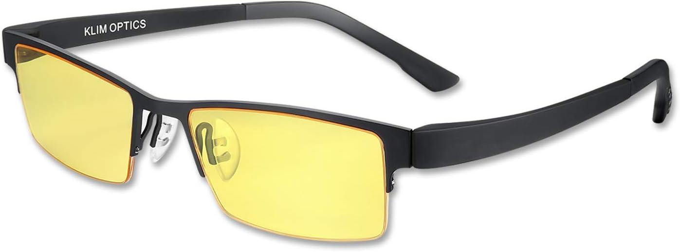 KLIM Optics - Gafas para Ordenador Anti luz Azul + Evita la Fatiga Ocular + Gafas Gaming para PC, Móvil TV, Tablet + Alta protección + Potente Filtro de luz Azul 92% +