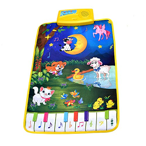 8 Piano Keyboard V Convey Fold-able Toddler Piano Mat 5 Modes Animal Music 8