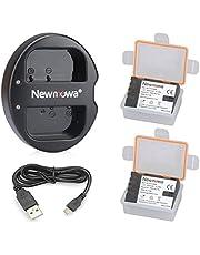 Newmowa Batteria per Fotocamera e Caricabatterie Doppio