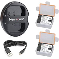 Newmowa BLF19 Battery (2 pack) and Dual USB Charger for Panasonic DMW-BLF19 and Panasonic DMC-GH3,DMW-GH4