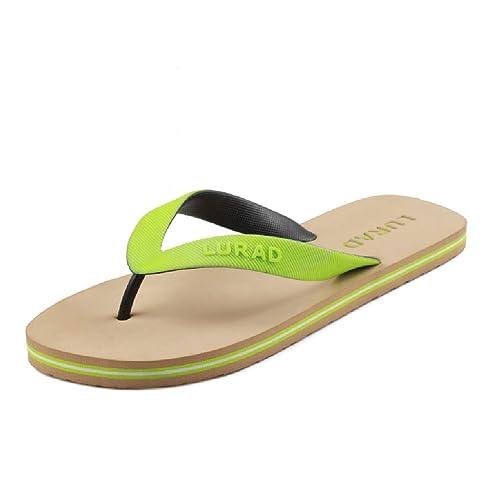 Chanclas Verdes Zapatillas de Deporte Minimalistas de Verano Skid Beach Zapatillas de Playa Deportivas al Aire Libre para Hombre: Amazon.es: Zapatos y ...