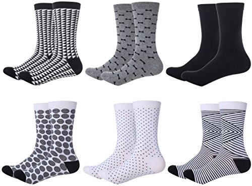 Mio Marino Womens Dress Socks - Colorful Patterned Socks for Women - 6 Pack Style 8 - 9-11 (Women Marines)