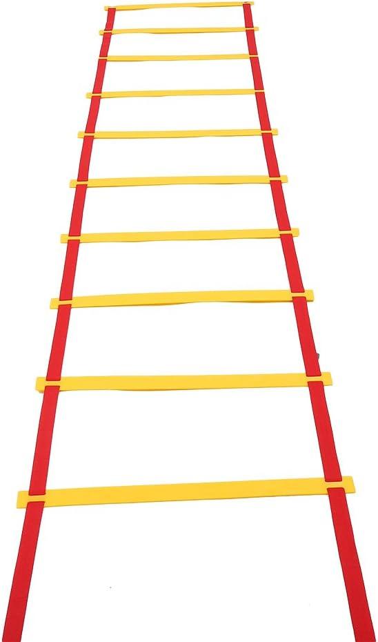 Escalera de Entrenamiento para Velocidad Agilidad 6/10/12 Peldaños Ajustables con Bolsa (6m 12Peldaños): Amazon.es: Deportes y aire libre