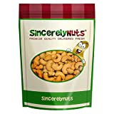 Sincerely Nuts Large Jumbo Cashews Roasted & Unsalted- One Lb. Bag- Astoundingly Appetizing- Drool Worthy Freshness- Antioxidant Rich
