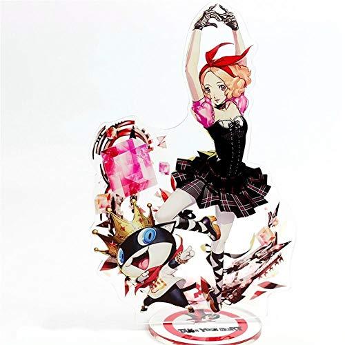 - Mikucos Persona 5 P5 Acrylic Stand Figure Model Toys Action Figure Pendant Toy Gift Desk Stand Haru Okumura&Morgana 21cm