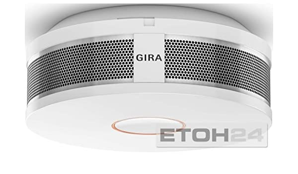Gira Dual Q DIN14604 - Detector de Humos, Color Blanco: Amazon.es: Bricolaje y herramientas