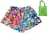 Emoji Fun Fleece Big Girls' Shorts & Tote Multi-Pack, Girls Emoji Gift (7-8)