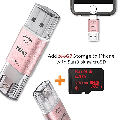 [Apple MFI Certified] TEKQ Mini uDrive microSD Reader To ...