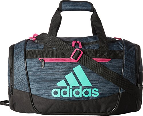 adidas Women's Defender III small duffel Bag, Green/Bahia Magenta, One Size