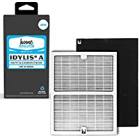 Idylis Part # IAF-H-100A for Idylis IAP-10-100 and IAP-10-150 Models, Comparable 2 A HEPA Filter Plus 2 Carbon Filter. A Home Revolution Brand Quality Aftermarket Replacement 4PK