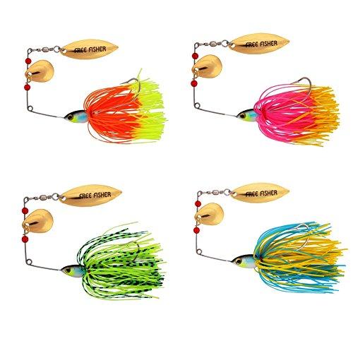 4pcs Fishing Spinner Lures Spinnerbait