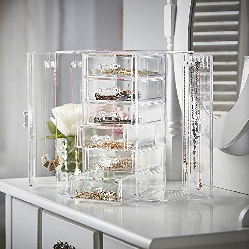 OnDisplay Tiered Acrylic Jewelry Cabinet Organizer