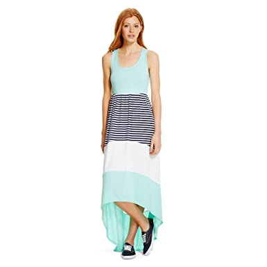 f5569d46337e Mossimo Supply Co Women's Maxi Sleeveless Dress Hi Low Mint/Striped ...