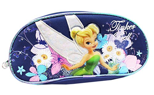 Disney's Tinker Bell Lavender Blue Floral Twin Pouch Cosmetic Bag