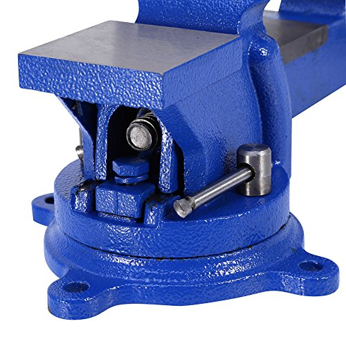 4'' 100mm Heavy Duty Bench Vice Anvil Swivel Locking Base Table Top Clamp Base for home handyman by Heaven Tvcz (Image #3)