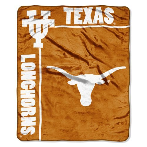 Officially Licensed NCAA Texas Longhorns School Spirit Plush Raschel Throw Blanket, 50