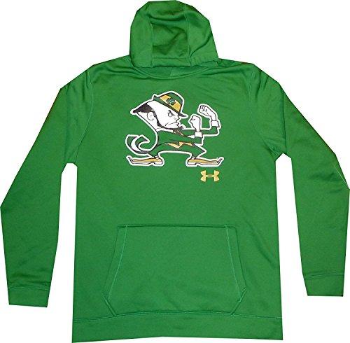 Under Armour Notre Dame Men's Fleece Kelly Green Hoodie Sweatshirt (XXL)