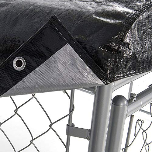 - Dog Kennel Cover - WeatherGuard Medium All Season Dog Run Cover & Roof - Perfect Fit for Lucky Dog 5ft. X 10ft. Outdoor Cages and Pens (5ft. X 10ft)