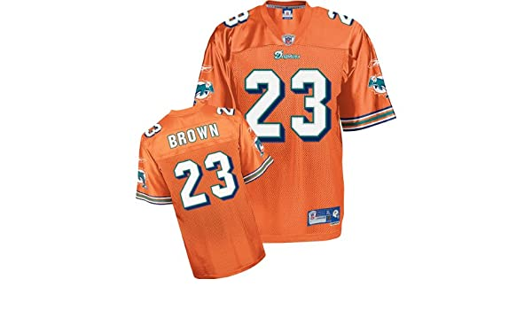 b87135531 Amazon.com   Reebok Miami Dolphins Ronnie Brown Premier Alternate Jersey  Extra Large   Sports Fan Jerseys   Sports   Outdoors