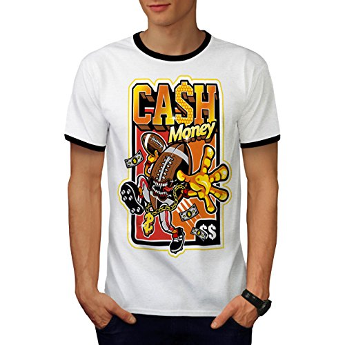 Cash Money Dollar Football Star Men S Ringer T-shirt   Wellcoda - Sled Hockey Sticks