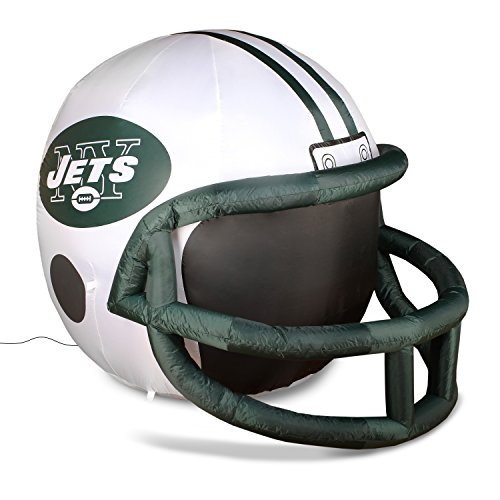 NFL New York Jets Team Inflatable Lawn Helmet, White, One Size