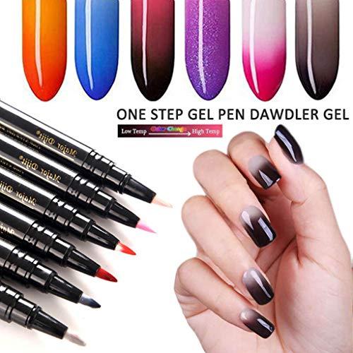 Rcool Esmalte de uñas Esmaltes esmaltes de uñas permanentes esmaltes de uñas normales esmaltes de uñas opi,1 Unid. 3 En 1 Pluma. Un paso Clave para usar Gel ...