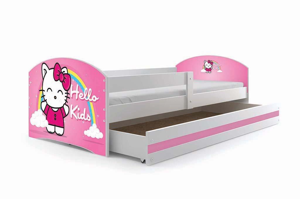 Interbeds Cama Individual LUKI - Blanco,160X80, con cajón, somier y colchón de Espuma Gratis! (Hello Kids): Amazon.es: Juguetes y juegos