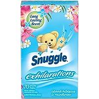 Snuggle Exhilarations Fabric Softener Dryer Sheets, Island Hibiscus & Rainflower, 70 Count