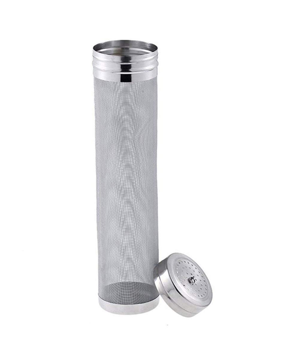 Beer Dry Hopper Filter,Stainless Steel Hop Strainer Micron Mesh Beer Filter Cartridge (2.8 x 11 inch)
