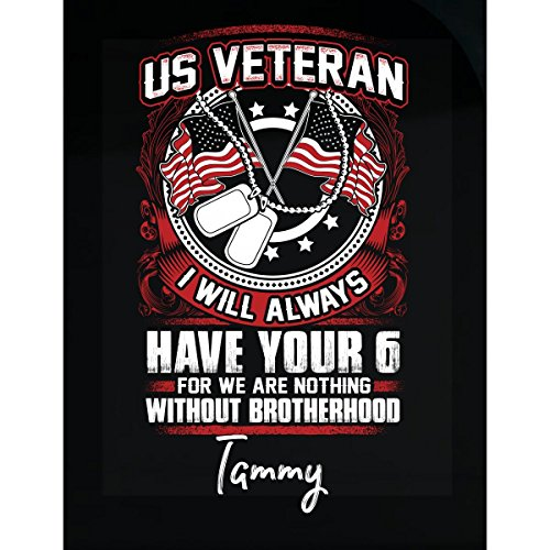 My Family Tee Us Veteran Always Have Your 6 Tammy Custom Name - Sticker