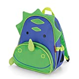 "Skip Hop Zoo Insulated Toddler Backpack Dakota Dinosaur, 12"" School Bag,"
