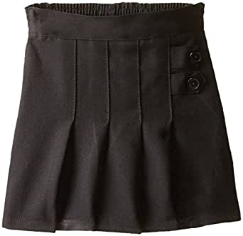 Genuine Big Girls Two Tab Pleated Scooter, Black,7