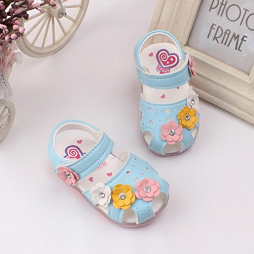 9ce4e9043 Jual Lanhui Toddler Flowers Girl Sandals Lighted Soft-Soled Baby ...