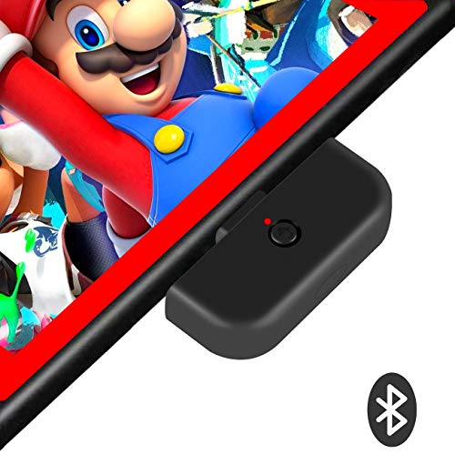 Uberwith Switch Bluetooth Audio Adapter Transmitter for Nintendo Switch & Lite with aptX Low Latnecy Connect All Bluetooth Headphones/Earphones/Speakers