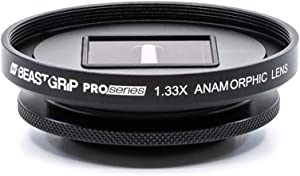 Pro Series - 1.33X Anamorphic Lens by Beastgrip for iPhone, Pixel, Samsung Galaxy, OnePlus and Other Camera Phones