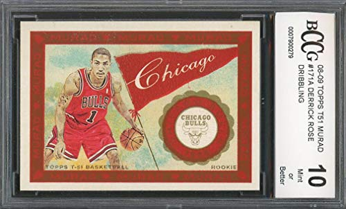 1f89659884ad 2008-09 topps t51 murad  171a DERRICK ROSE chicago bulls rookie card BGS  BCCG