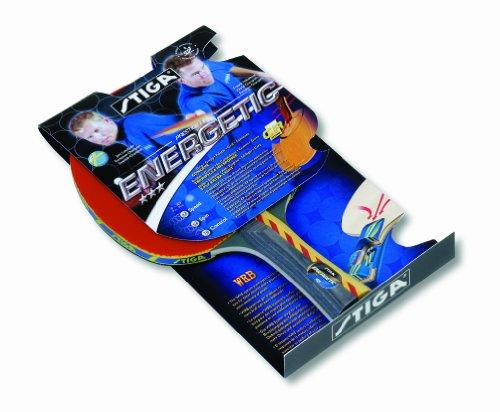 Raquette de tennis de table stiga energetic rouge - Raquette de tennis de table competition ...