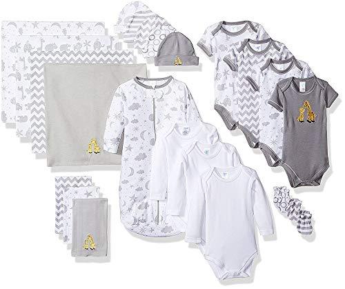 Spasilk Essential Newborn Baby Layette Set, Grey Celestial, 0-6 Months