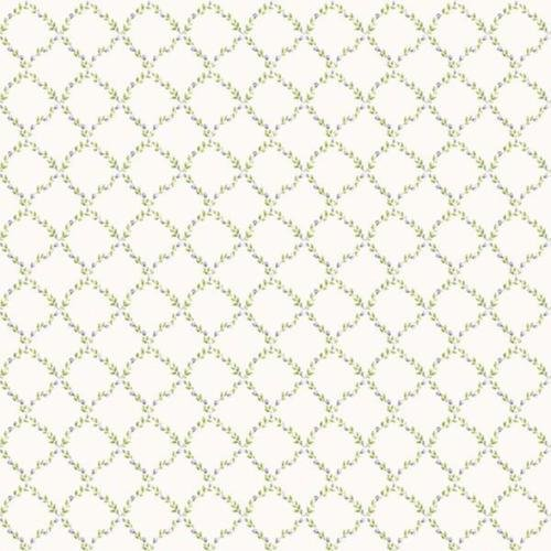 G67906 - Miniatures2 Trellis Lilac Green Galerie Wallpaper