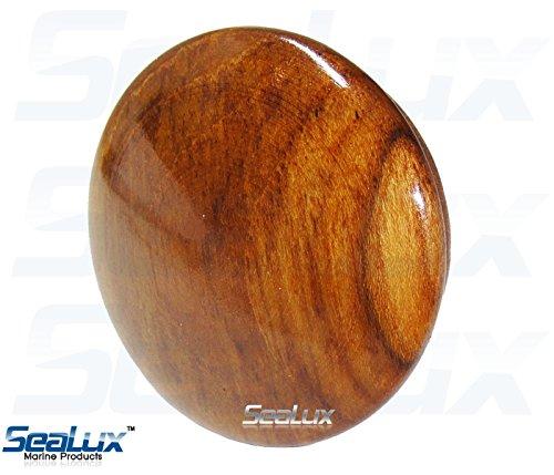 SeaLux Marine 2-5/8 INCH Genuine Teak Wood BOAT CENTER STEERING WHEEL CAP for Boat Destroyer Steel Wheels by SeaLux Marine Products (Image #4)