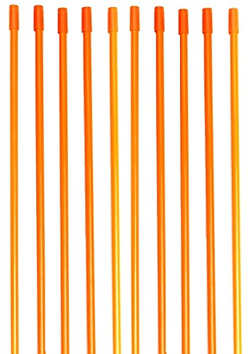 "Driveway Markers, Snow Stakes With Armor Cap, 4 Ft, ¼"" (100 Pack, Orange)"