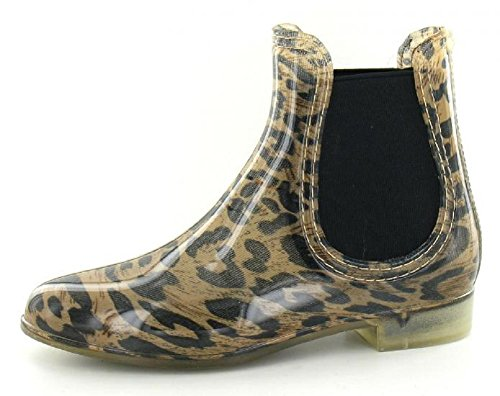 Leopard 4 3 Welly 5 Size Dealer 6 Ankle Womens Wellington 8 7 Wellies Chelsea Boots Ladies HFawqZvxa