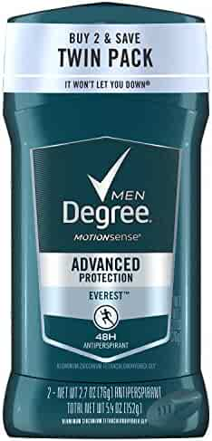 Degree Everest MotionSense Antiperspirant Deodorant Stick, Twin Pack 5.4 oz