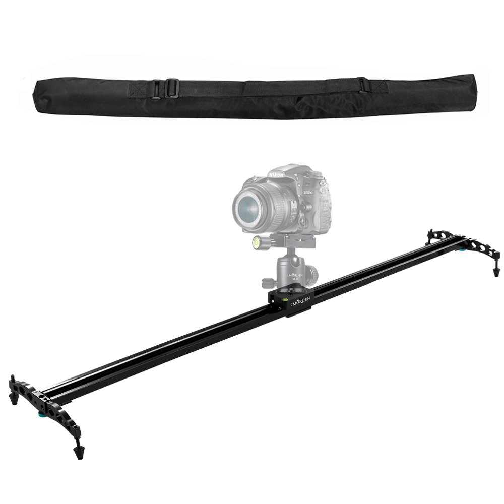 IMORDEN 40''/100cm Camera Slider Ball-bearing Typed Track for DSLR and Video Camera, Smartphone and Gopro with Environmental Carrying Bag(Max Load: 7kg/15lbs)for Youtuber and Film Maker, Use on Tripods