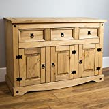 Home Discount Corona 3 Door 3 Drawer Sideboard