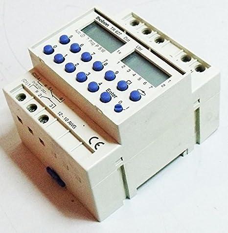 Theben - TR 627 - Reloj digital programable 2 canales: Amazon.es: Iluminación