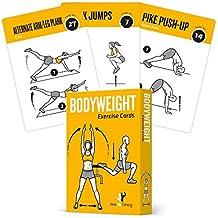 Tarjetas de ejercicio de peso corporal - Gimnasio en casa, entrenador personal, programación Fitness, abdominales, piernas, glúteos, bíceps, entrenamientos completos para la parte superior del cuerpo, rutina de entrenamiento