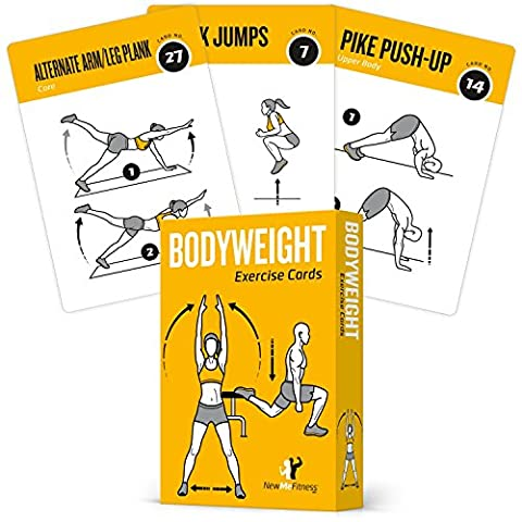 EXERCISE CARDS BODYWEIGHT Home Gym Workout Personal Trainer Fitness Program Guide Tones Core Ab Legs Glutes Chest Bicepts Total Upper Body Workouts Calisthenics Training (At Home Workout Dvd)