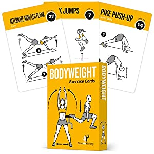 Amazon.com : EXERCISE CARDS BODYWEIGHT Home Gym Workout Personal ...