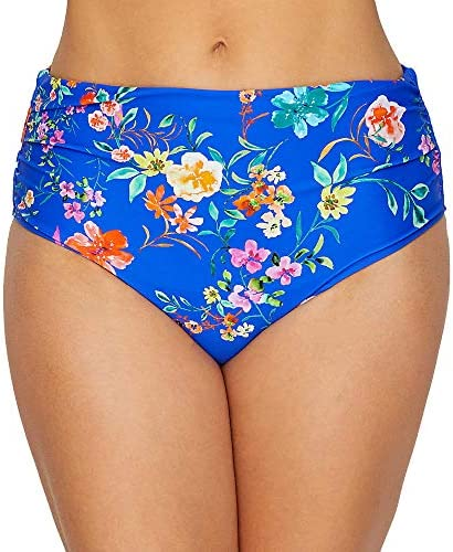 Cobalt Floral Panache Florentine Midi Bikini Brief